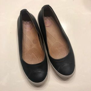 FitFlop Due Patent Black Ballet Shoes EUR36